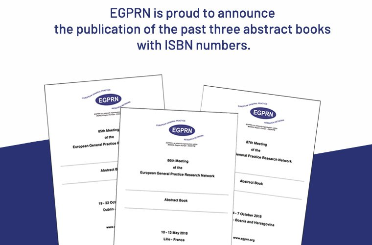 news egprn abstract books are now published with an isbn number